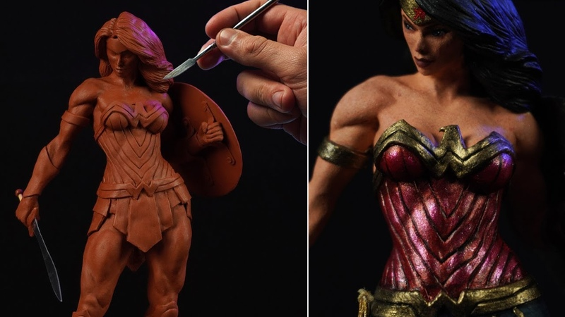 Sculpting Wonder Woman DC Comics Timelapse