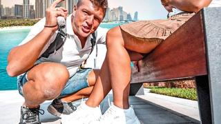 Круиз в Дубай за 55$. Шведский стол в перчатках. Дубай Марина и пляж JBR