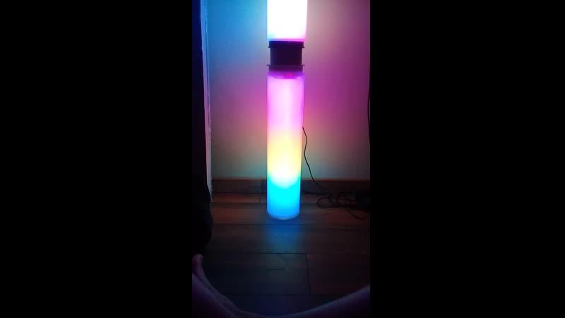 Комбо. Режим радуги! =) Первый и второй (wifi) светильники.