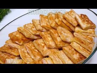 Пирожки без теста c мясом