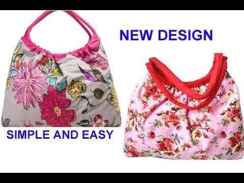 10 मिनट में cutting stitching of handmade handbag in hindi shopping bag travel bag