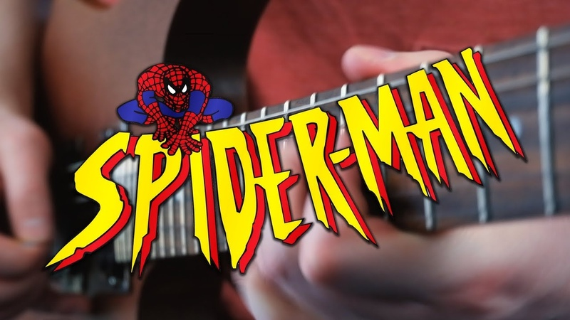 Spider Man The Animated Series Theme on Guitar