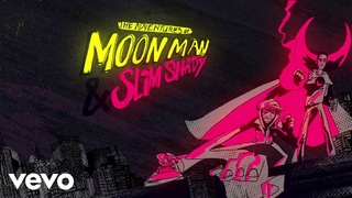 Kid Cudi - The Adventures Of Moon Man & Slim Shady (Lyric Video) ft. Eminem