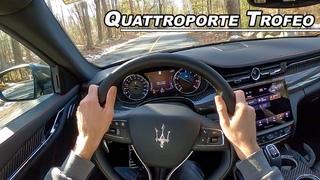 580hp Ferrari V8 Twin Turbo Limo - 2021 Maserati Quattroporte Trofeo POV Drive (Binaural Audio)