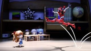Evangelion- Eva Unit 02 Becomes a Gymnast and Does Acrobatics |Stop Motion