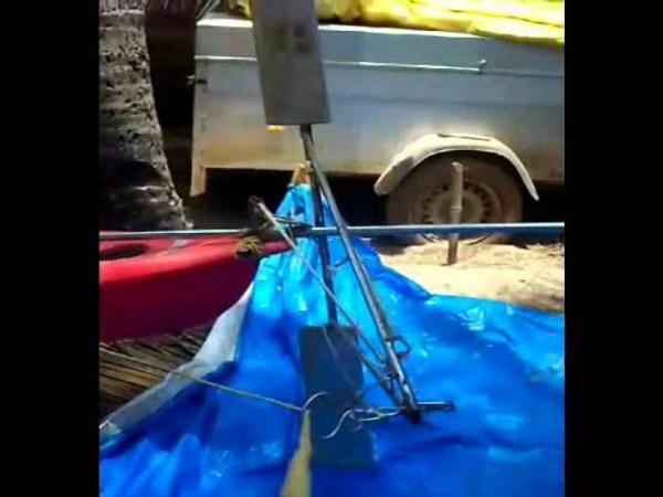 Kite kayak prototype