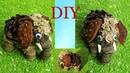 Как быстро сделать слона мамонта из шишек Поделки из природных материалов