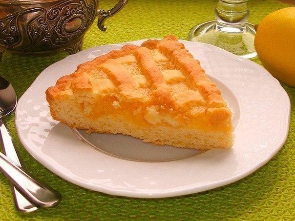 Вкуснейший песочный лимонный пирог