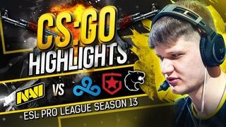 Хайлайты NAVI vs Gambit, Cloud9 и FURIA на ESL Pro League S13 (Группа C)