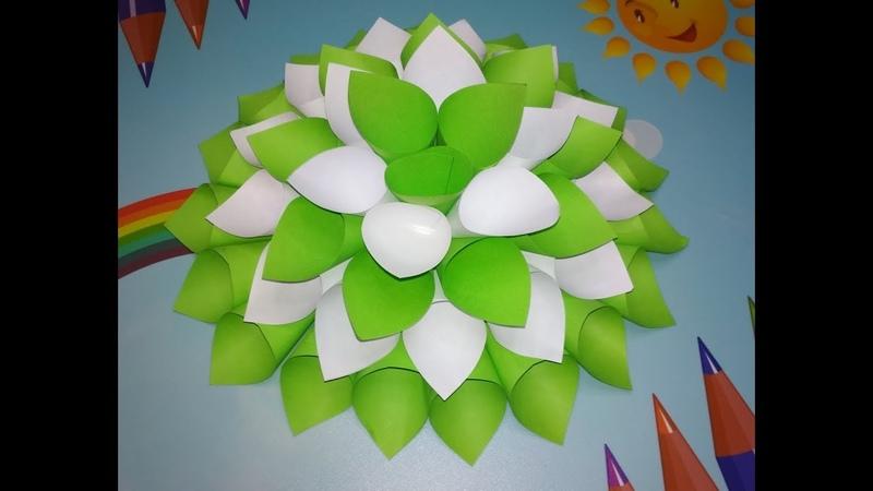 💐Поделка цветок из бумаги Оригами В садик в школу Ко дню матери Сделай сам💐
