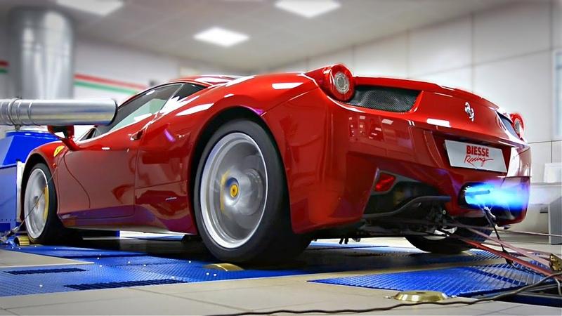 Ferrari 458 Feat Akrapovic 9000rpm Ferrari NA V8 Screaming on the DYNO Volume Warning ⚠️