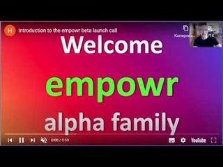Empowr beta (приветствие)