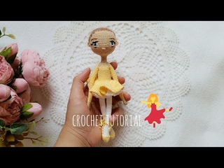 ballerina /part1 small doll crochet