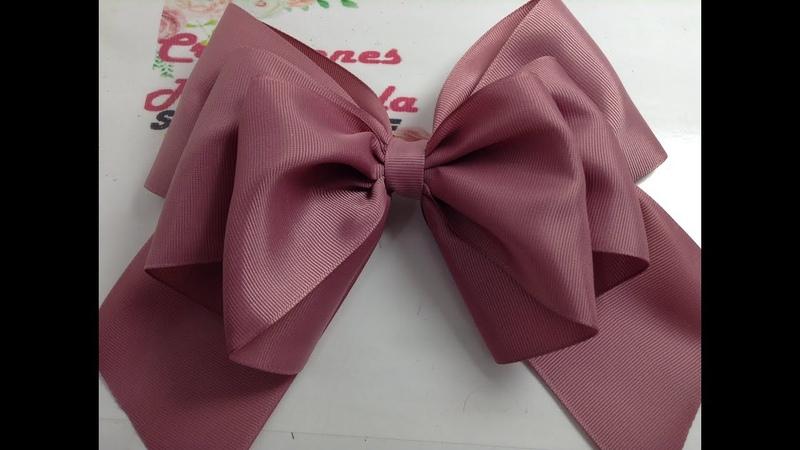 Lazo grande doble tono rosa palo VIDEO NO 745 Creaciones Rosa Isela