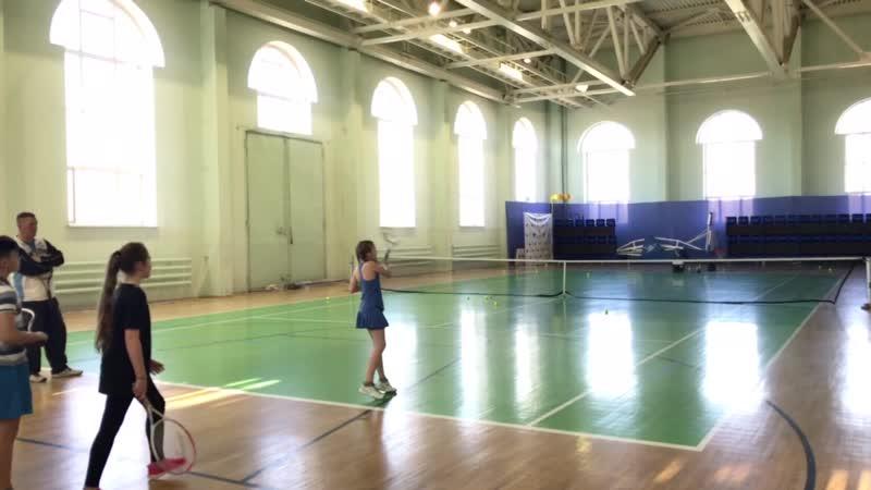 Форхенд красивый удар в теннисе 😉👍