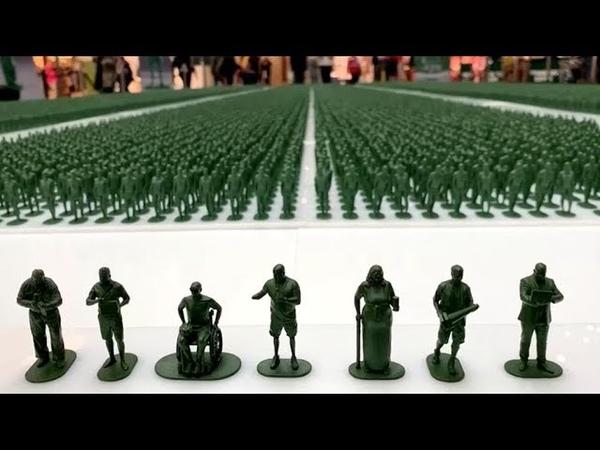 Армия из 40.000 фигурок напомнила британцам об инвалидах последних войн