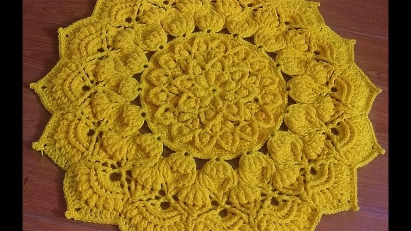 Crochet mandala doily 12 crochet table runner alfombra mandala de ganchillo