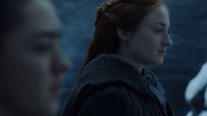 Game of Thrones 7x07 Sansa and Arya Conversation