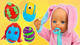 Easter eggs & Play-Doh eggs for kids - Baby doll videos