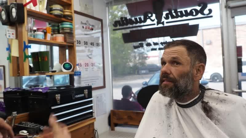 Homeless Gentlemans Amazing Barbershop Transformation (Spread the Love) South Austin Barbershop