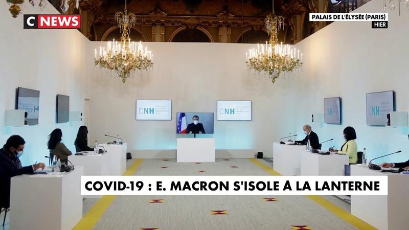 Covid 19 Emmanuel Macron s'isole à La Lanterne
