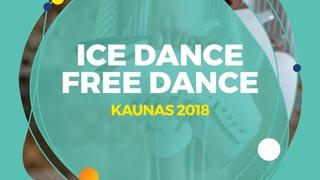 Ushakova Arina / Nekrasov Maxim (RUS) | Ice Dance Free Dance | Kaunas 2018