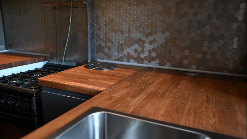 Кухонная столешница из мебельного щита Ремонт кухни своими руками