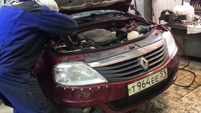 Renault Logan замена сцепления