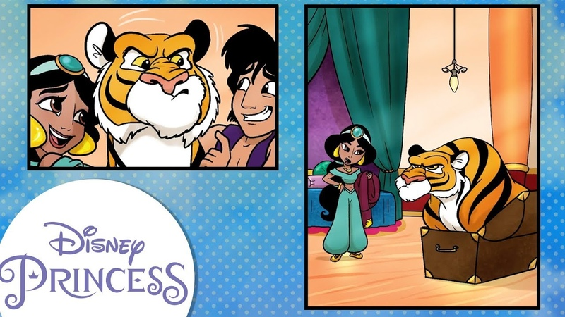 Disney Comics In Motion Disney Princess Jasmine Cat Nap