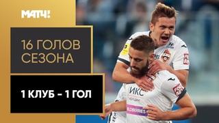 Топ 16 голов Тинькофф РПЛ (по одному от каждого клуба)