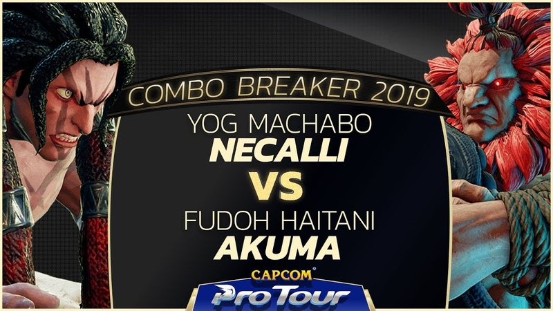YOG Machabo (Necalli) vs FUDOH Haitani (Akuma) - Combo Breaker 2019 Top 8 - CPT 2019