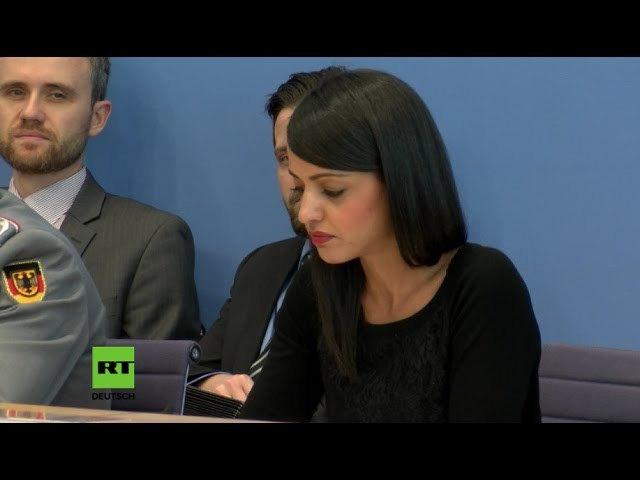 Bundespressekonferenz Chebli gerät nach Frage zu Drohnenkrieg über Ramstein mächtig ins Straucheln
