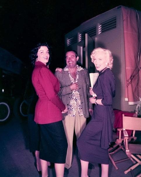 """Фото со съемок фильма """"Джентльмены предпочитают блондинок"""", 1953"""