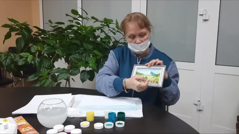 Серебряный доброволец Нурия Биктяшева провела мастер класс по правополушарному рисованию