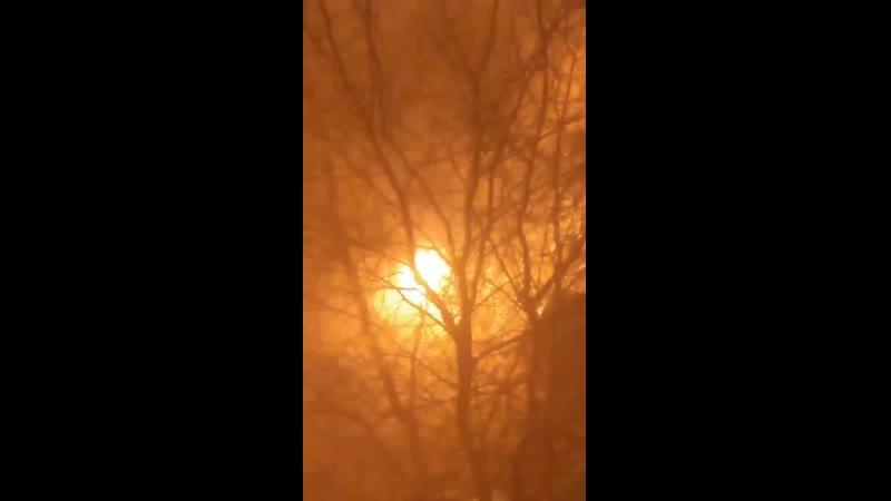 Пожар в Нижневартовске на улице Дружбы Народов 30Б
