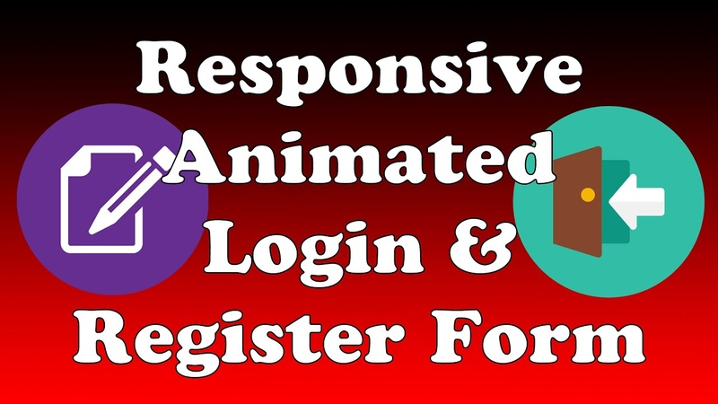 Responsive Animated Login and Registration Form Using Only HTML and CSS (Quick 10 Minute Video)