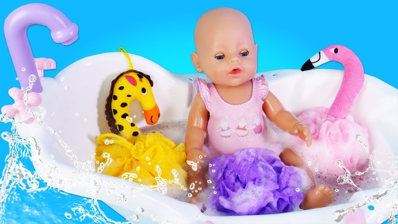 Маша Капуки Кануки снова КАК МАМА Беби Бон Эмили в ванной Развивающее видео Моем игрушки