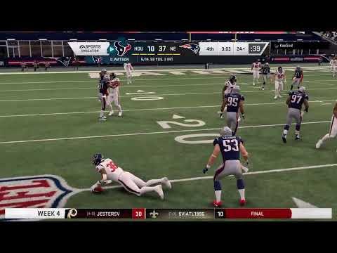 UFLRUS Madden 20 S3W4 Houston Texans @ New England Patriots