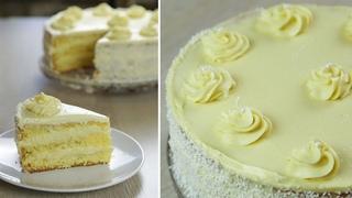 Торт НЕЖНОСТЬ с кремом Пломбир  БЮДЖЕТНЫЙ торт