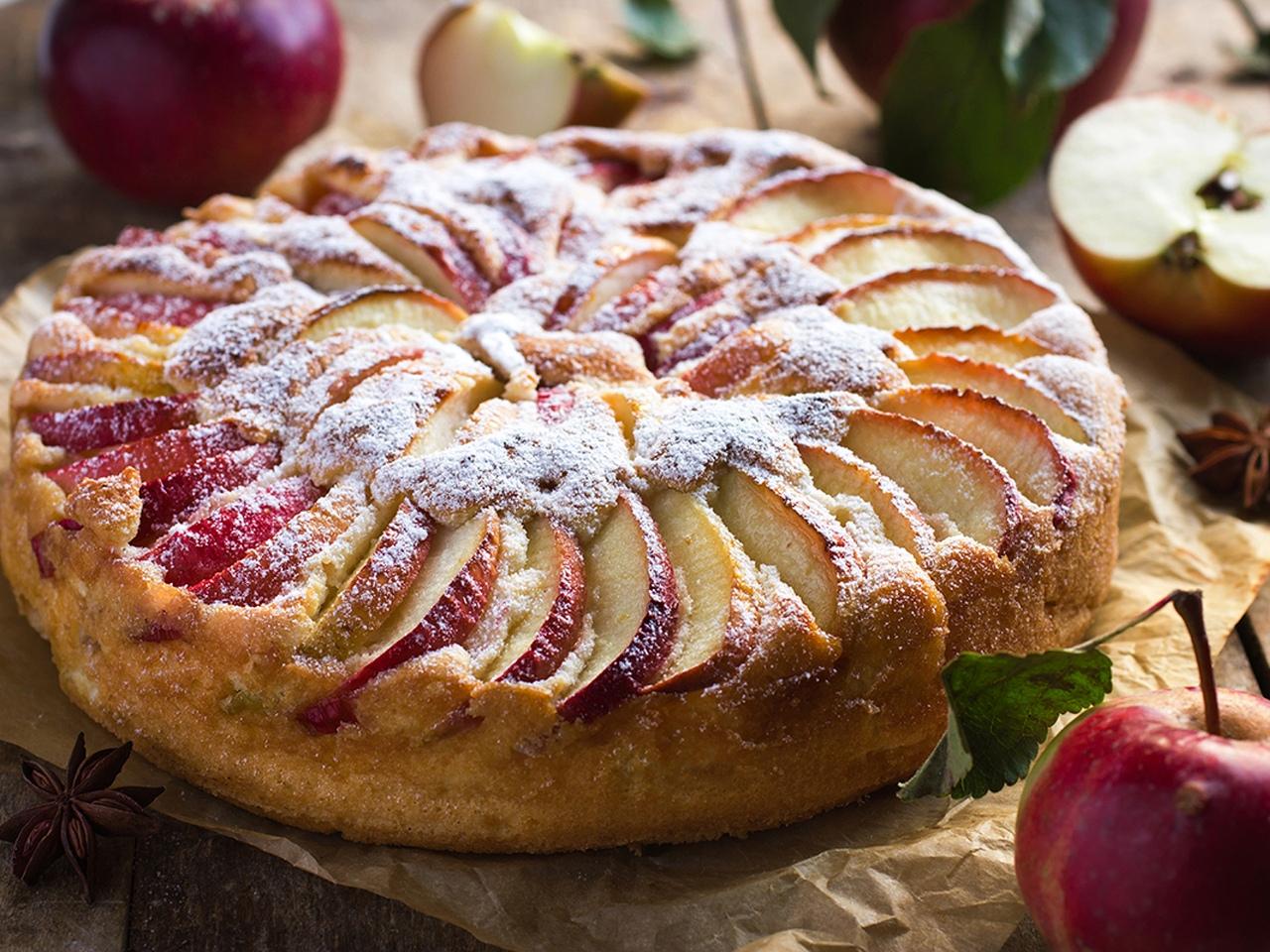 картинки яблочный пирог шарлотка мать