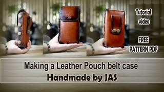 Making a Leather  belt case with a DIY PDF Pattern  How to dye and finish _ handmade by JAS