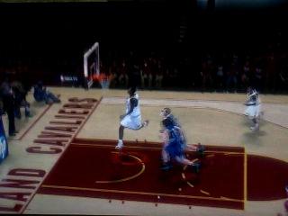 Tristan Tompson's crazy dunk