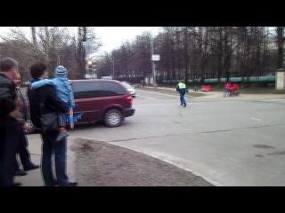 ДТП на 11-й Парковой. Наезд на велосипедиста (20-04-2012) 1 пострадавший