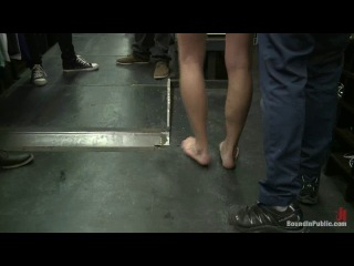 Bound In Public - Ripped, hung stud gets used and abused in a clothing store