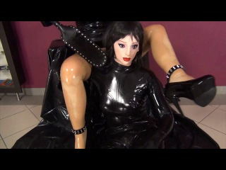 Rubber femdom and sex in female masks part2