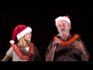 Emma Stone and Bill Murray at Tower Lighting