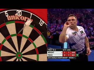 Peter Wright vs Gerwyn Price (PDC World Darts Championship 2015 / Round 1)