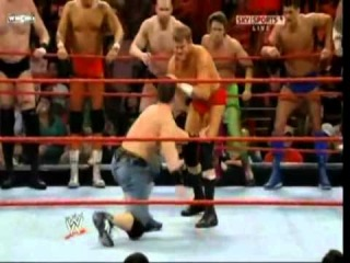 () Randy Orton and John Cena vs Raw Roster