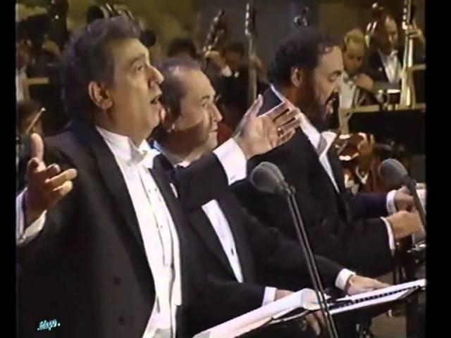 O Sole Mio - Carreras - Domingo - Pavarotti - Los Angeles 1994... Emozionare Scherzando...