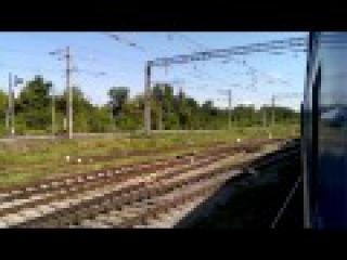 Смена локомотива ЧС2-431 на ЧМЭ3-4231 на ст. Новомосковск-Днепровский